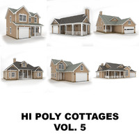 Hi-poly cottages collection vol.5