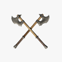 medieval battleaxe 3d model