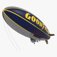 3d good year blimp model
