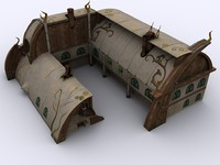 3d model of house fantasy