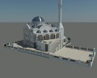 modern mosque 3d model