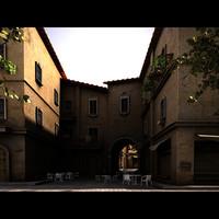 italian alley 3d model