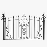 wrought iron fence metal 3d max