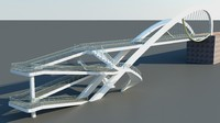 3dsmax bridge transportation highway