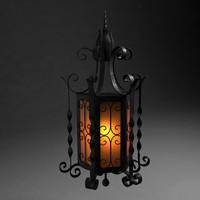 old metal lantern 3d model