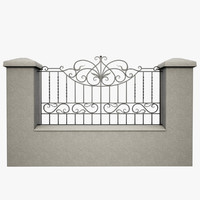 wrought iron fence metal x