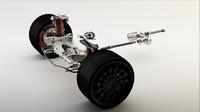 3d parts car model