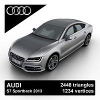 2013 audi s7 sportback 3d model