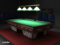 billiard room interior 3d max