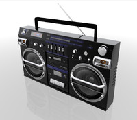 radio boom box ghetto blaster 3d c4d