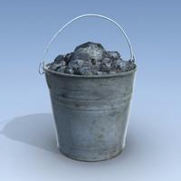 3d bucket stones