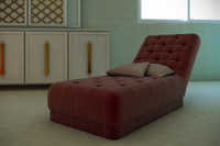 3ds max simple chaise lounge