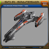 free max model spaceship fighter