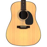 guitar acoustic 3d max