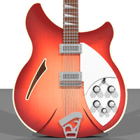 guitar electric rickenbacker 3d c4d