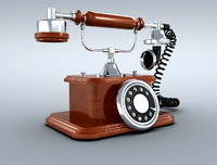 antique phone 3d 3ds