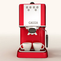 3d model espresso machine gaggia