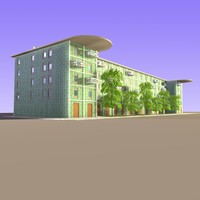 3d model of residential apartment