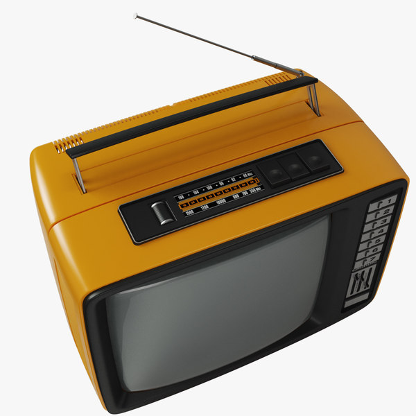 retro tv 3d model - Retro TV and radio reciever... by modelbay