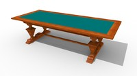 3d traditional wooden table classic model