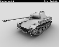 3d model panther ausf g