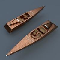 motor boat 3d blend