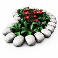 3d flower bed garden