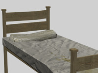 dirty wood bed 3d max