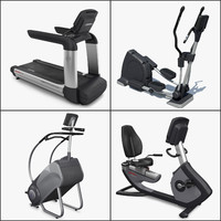 3d model cardio exercise equipment