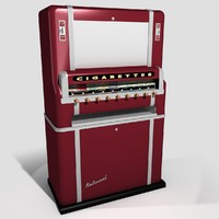 3d classic cigarette vending machine model