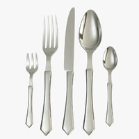 fork knife spoon 3d obj