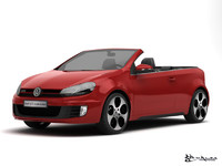 volkswagen golf gti cabriolet 3d model