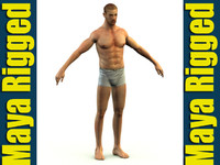 3d model of modeled rigged