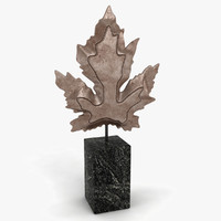 3d model of maple leaf decoration