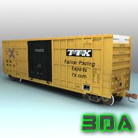 3d a405 boxcar rails cargo