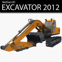 excavator 2012 3d 3ds