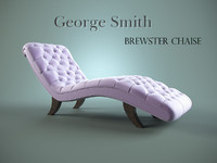 3d model george chair brewster chaise