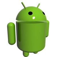 3d model android logo