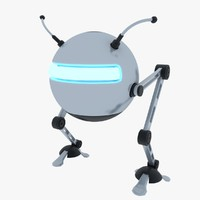 biped robot rigged 3ds
