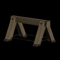 free wooden base goat 3d model