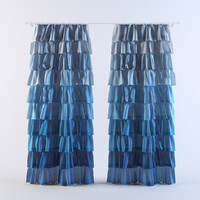 curtains 21 3d model