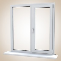 pvc window balcony door 3d model