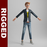 Cartoon Boy (rigged)