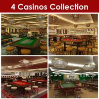 4 casinos 3d model
