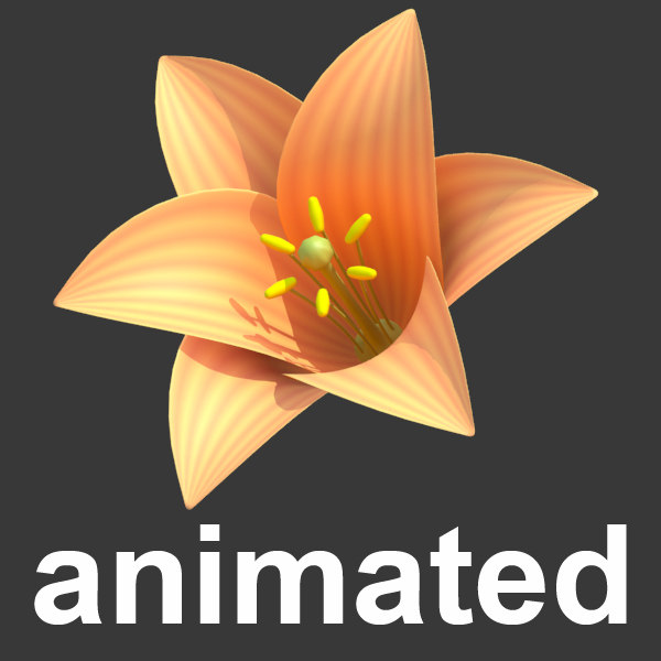 stylized animated blossom