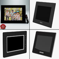 3d digital photo frames model