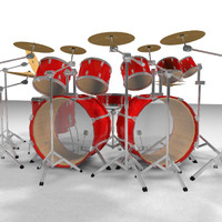 cinema4d drums percussion kit
