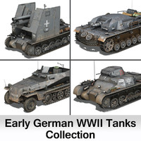 Early german WWII Tanks - Collection