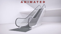 3d model escalator