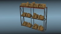 large warehouse rack 3d model